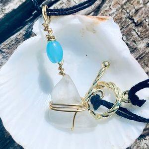 🐳 3/$25 Salty Seaglass Choker